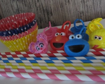 Sesame Street Cupcake Toppers ~ Liners~ or~ Straws