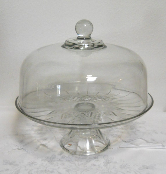 Clear Glass Cake Stand Cover