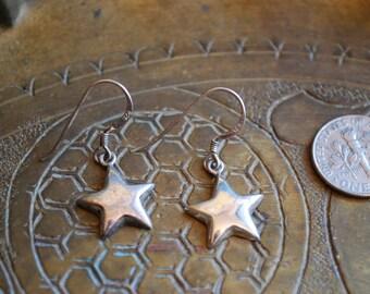 Vintage DANGLE EARRINGS - 1950s Sterling Silver Earrings