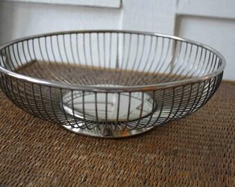 silver bowl, modern silver bowl, Mid-century modern silver bowl