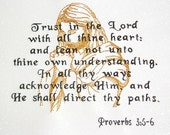 Proverbs 3:5-6 embroidered