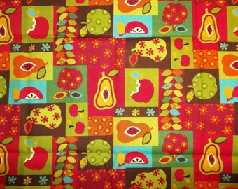 Allover Apples and Pears Beautiful Colors Alexander Henry Quilt Sewing Cotton Fabric