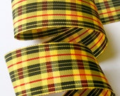 """Gorgeous Plaid - 1 1/2"""" x 2 yd  MaCleod (YEL/RED/BLK)"""
