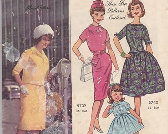 1960's Australian Home Journal Pattern and Magazine Vintage Sewing, Knitting Patterns