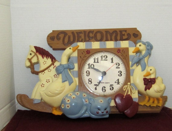 Goose Battery Operated Kitchen Clock Vintage Made In The