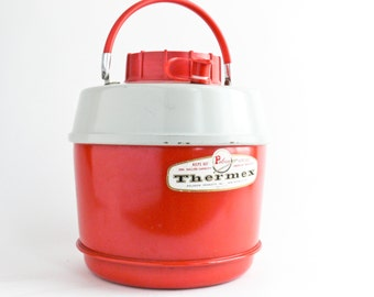 Vintage Thermex Insulated Jug, Poloron Insulated Container, 1 Gallon