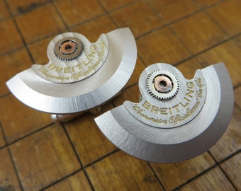 Unique Breitling Rotor Cufflinks. Great for Fathers Day, Anniversary, Wedding or Just Because