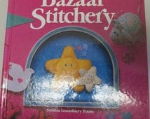 "Vintage ""Scrap Saver's Bazaar Stitchery"" Sewing Craft Book  Step by step sewing book 1990 hardbound book"