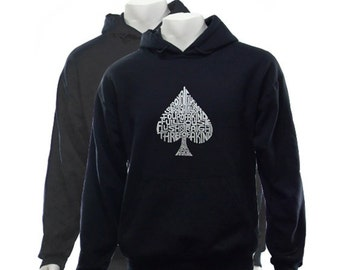 Poker dictionary hooded sweatshirt
