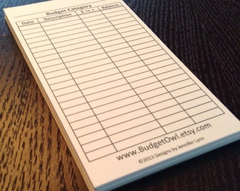 Replacement Budget Notepad (for Cash Budget Wallet)