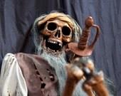 OOAK Pirate Skeleton Haunt Prop