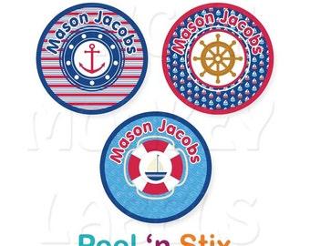 Stick On Clothing Labels, Nautical Boy