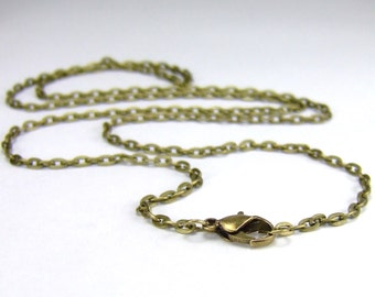 Antique Bronze Oval Link Chain custom length Antique Bronze Oval Link Necklace