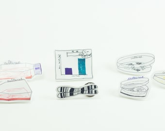 Very Cultured Pin Perfect Present for Scientists, Researchers, Drs, PIs Science Themed Art Brooch Petri dish Chromosome