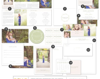 Marketing Set for Photographers - Organic Marketing Set - Photography Marketing Set -  Marketing Kit - Branding Kit - Photoshop Templates