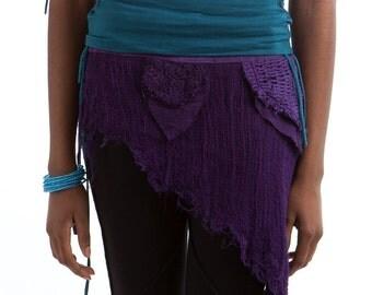 PIXIE skirt, ASSORTED COLOURS - psytrance skirt, elf skirt, ethnic skirt, goa Skirt, wrap Skirt, Pixie Mini Skirt, Gcskse