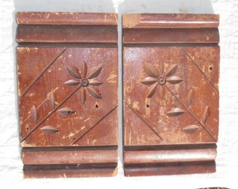 Antique Vintage Salvaged Molding Trim - Pair