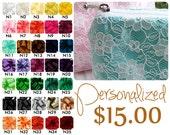 FUN bridesmaid gift ,  bridesmaid gift , pick your color - blue bridesmaid gift - makeup bag