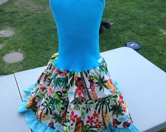 Hawaiian print tank dress