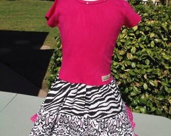 Hot pink sassy zebra dress