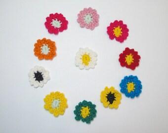 Daisy Lapel Pin, Crochet, April Birth Month, Boutonniere, Corsage, Buttonhole Flower