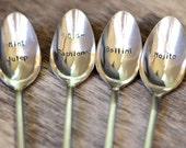 STIRRED, NOT SHAKEN cocktail spoons