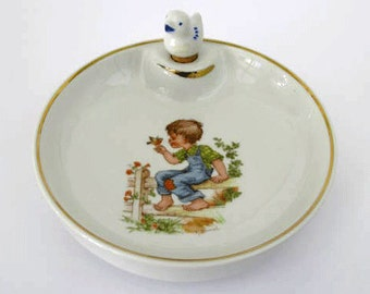 Baby Plate, Baby Warming Bowl, French Limoges