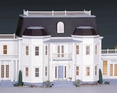 SPECIAL VALUE, Le Grande Chateau, A Fox Hall Manor Wooden Dollhouse Kit, Optional Bundle to Include Conservatory & Room Addition