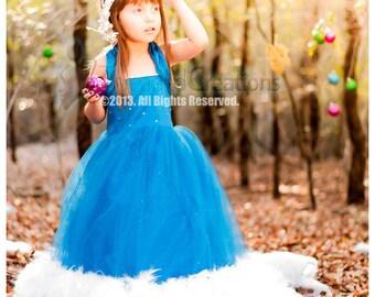Artic Glitz  Girls Feather Dress