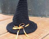 Witch Hat, Black Witch Hat, Newborn Witch Hat, Halloween Photography Prop