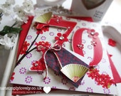 A Beautiful Floral 'Oriental' Style Birthday Card!