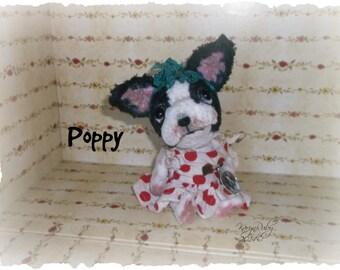 PDF EPattern  to make 7 inch 'Poppy' ~ French Bulldog  Vintage Style Viscose or Mohair by Artist KarynRuby