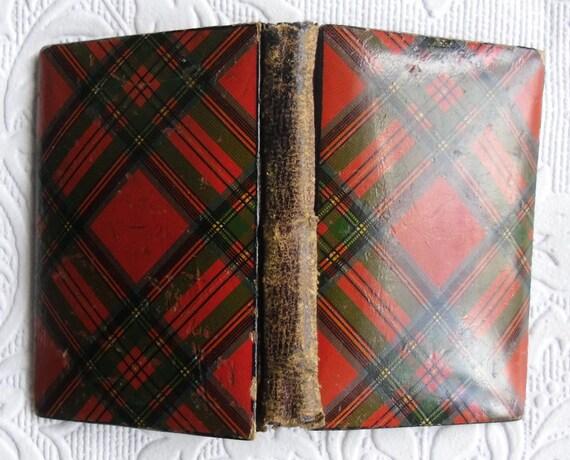 Antique Tartanware Needle Case - Scottish Tartan Ware - Stuart Needle Case - Rare Victorian Needle Case - Collectible Sewing Needle Case