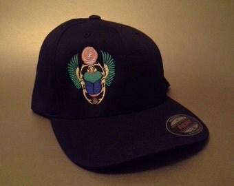 Grateful Dead Scarab Flexfit Hat curved brim made to order Furthur FREE SHIPPING