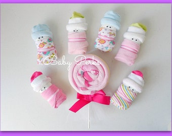 CHOOSE , Boy , Girl , or  Gender Neutral , Baby Shower Decorations , Diaper Babies, Mini Diaper Babies, Baby Shower Gift,Table Decorations