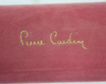 Vintage New Pierre Cardin Travel Case Earrings Pink Velvet