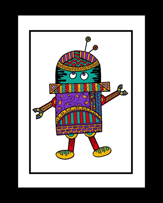 Fine Art Print - R is for Robot I (Color Options)