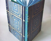 50% Discount Sale - Now 5 GBP  - Blue Swirl II Sketchbook Hand Sewn ooak