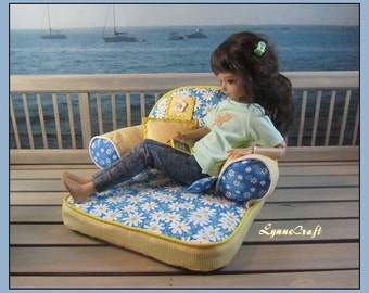 Comfy Daisy Chaise for your Iplehouse KIDs & BIDs, and Other Similar Sized Dolls. .  . .OOAK