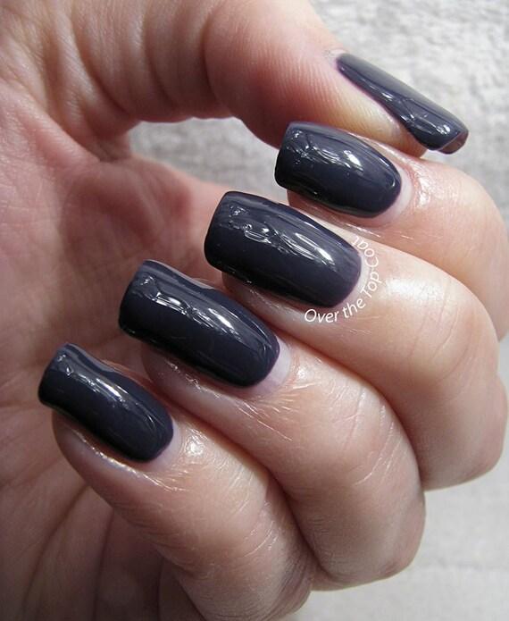 Velvet Nail Polish: Dark Purple Creme Nail Polish From