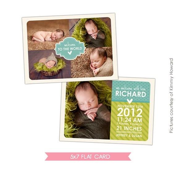 INSTANT DOWNLOAD - Birth announcement template - Fresh news - E428
