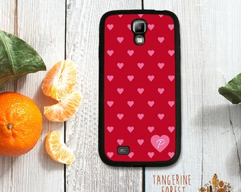 Red & Pink Heart Pattern Customized With Your Initial! Choose Samsung Galaxy S4 / S5 / S6