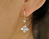 ROSE GOLD CLOVER earrings.   last one