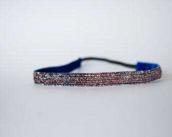 """No Slip Headband Multi Color Glitter 3/8"""" or 5/8"""""""