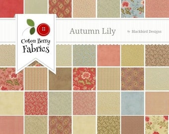 Autumn Lily Charm Pack by Blackbird Designs for Moda - One Charm Pack - 2740PP