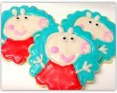 Peppa Pig Sugar Cookies Iced Sugar Cookie Pig Cut Outs Birthday