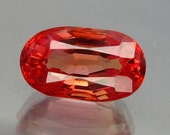 9.97 ct Lab Created Simulated Red Pink Orange Padparadscha Sapphire