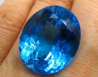 35.82 ct Natural Topaz Top London Blue Big Size