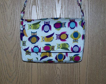 Owl Messenger Purse with Adjustable Strap