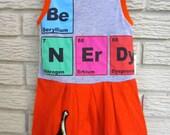 Girls Size 12 Month Be Nerdy Sleeveless Knit Dress. Orange, Blue, Dinosaur. Black Friday/Cyber Monday/Free Shipping /Gifts under 50